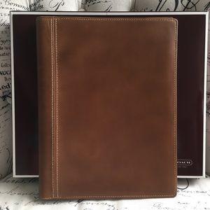 Coach Leather Notepad Portfolio